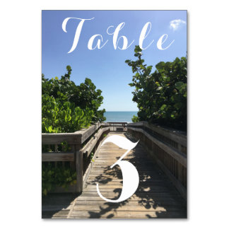 Beach Access Table Number
