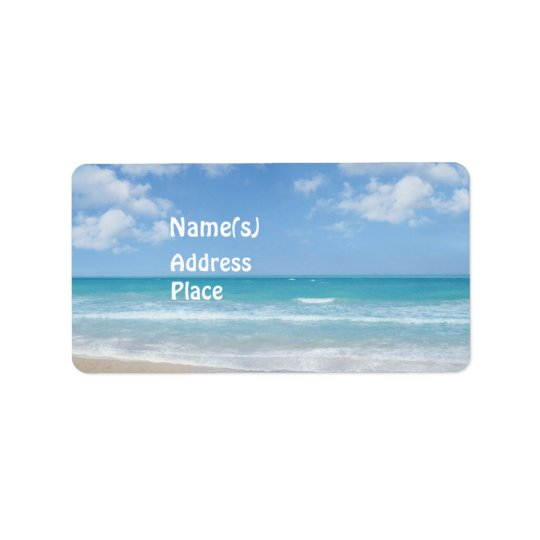 Beach Address Label