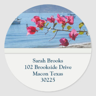 Beach Address Stickers