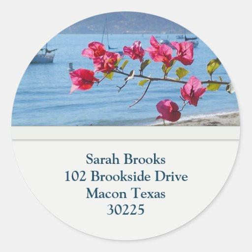 Beach Address Stickers