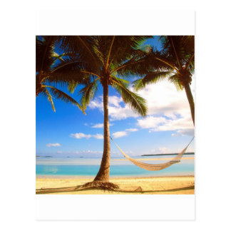 Beach Aitutaki Cook Islands Postcard