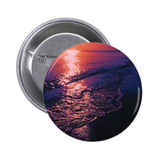 Beach altered colors 04 pinback button