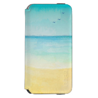 Beach and Birds Watercolor Incipio Watson™ iPhone 6 Wallet Case