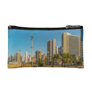 Beach and Buildings of Fortaleza Brazil Makeup Bags