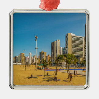 Beach and Buildings of Fortaleza Brazil Metal Ornament