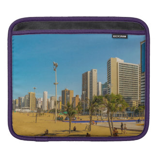 Beach and Buildings of Fortaleza Brazil Sleeves For iPads