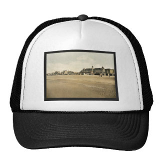 Beach and casino, Malo-les Bains, France vintage P Mesh Hat