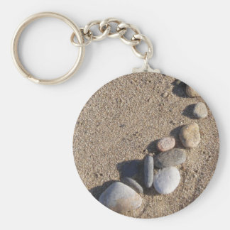 Beach and Pebbles Keychain