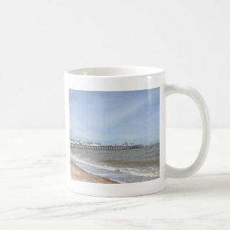 Beach And Pier At Southwold Suffolk Coffee Mug