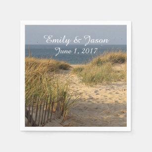 Beach and sand dunes disposable serviette