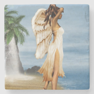 Beach Angel Stone Coaster