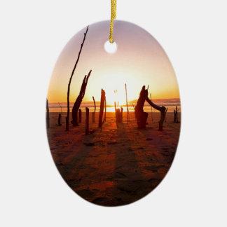 Beach Art Ceramic Ornament