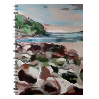 beach art notebook