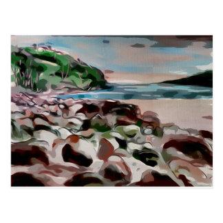 beach art postcard
