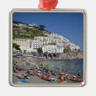Beach at Amalfi, Campania, Italy Metal Ornament