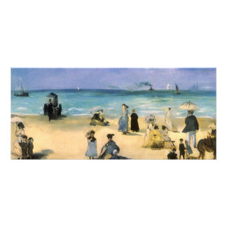 Beach at Boulogne by Manet, Vintage Impressionism Full Colour Rack Card