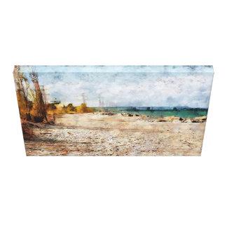 Beach at Hamilton Canvas Print