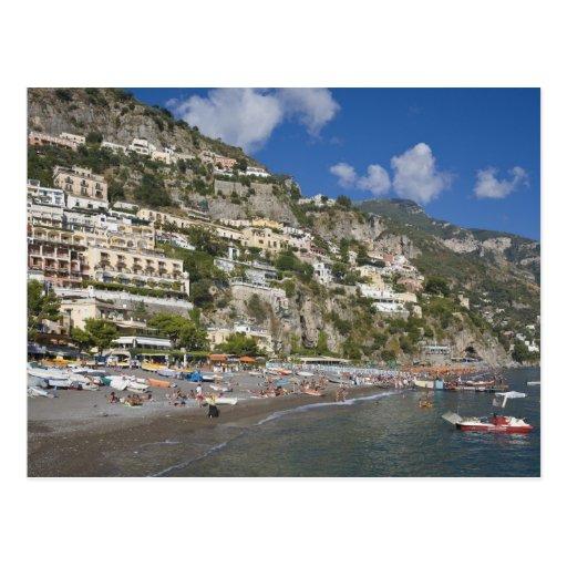 Beach at Positano, Campania, Italy Post Card