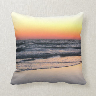 Beach at Sunset Scenic Pillow
