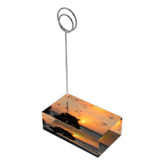 Beach at Sunset Table Number Holder