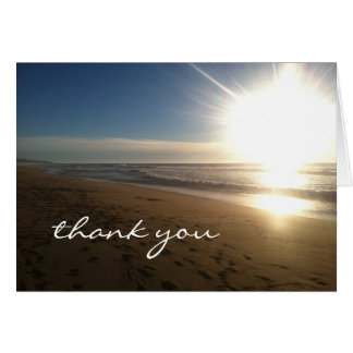 Beach at Sunset - thank you notes Note Card