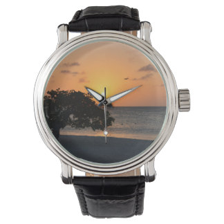 Beach at Sunset Wrist Watches