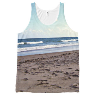 Beach at the Ocean All-Over Print Singlet
