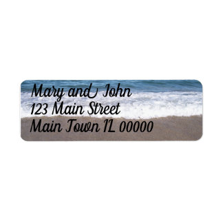 Beach At The Ocean Wedding Return Address Label