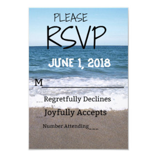 Beach At The Ocean Wedding RSVP Card