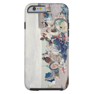 Beach at Yport, 1878 (oil on canvas) Tough iPhone 6 Case