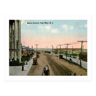 Beach Ave., Cape May, New Jersey Vintage Postcard