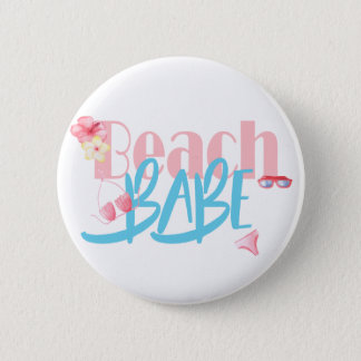 Beach-Babe.gif 6 Cm Round Badge