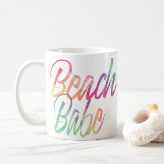 BEACH BABE RAINBOW SCRIPT COFFEE MUG