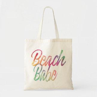 BEACH BABE RAINBOW SCRIPT TOTE BAG