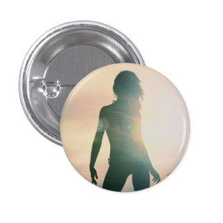 Beach Babes Sunset Silhouette Enjoying the Sun 3 Cm Round Badge