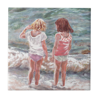 Beach Babies Ceramic Tile