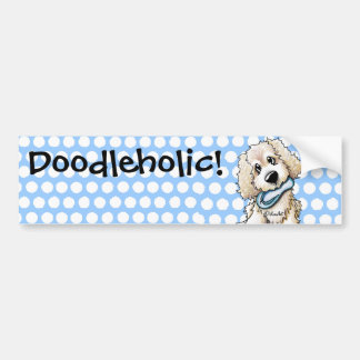 Beach Baby Doodle Dog Car Bumper Sticker