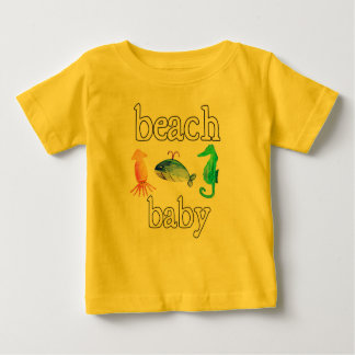 Beach baby sea creatures summer ocean tee