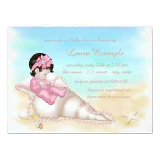"Beach Baby Shower 6.5"" X 8.75"" Invitation Card"
