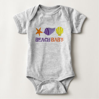 BEACH BABY Vacation Starfish Sea Shell Seashell Baby Bodysuit