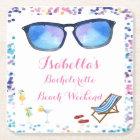 Beach Bachelorette Weekend Party Coaster