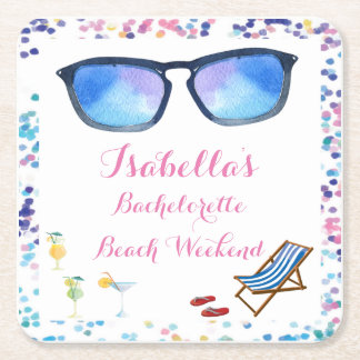 Beach Bachelorette Weekend Party Coaster