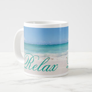 Beach Backgroud Large Coffee Mug