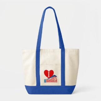 """Beach Bag - I (Heart) """"AMERICA"""" Stars Stripes"""