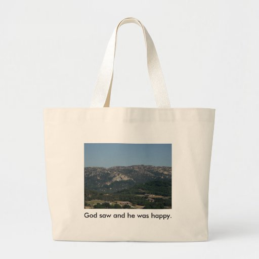 Beach bag with a mountian view