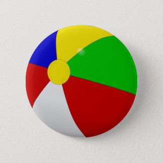 Beach Ball 6 Cm Round Badge