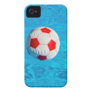 Beach ball floating  in blue swimming pool iPhone 4 Case-Mate case