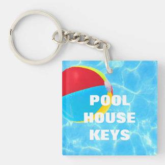 Beach Ball Key Ring