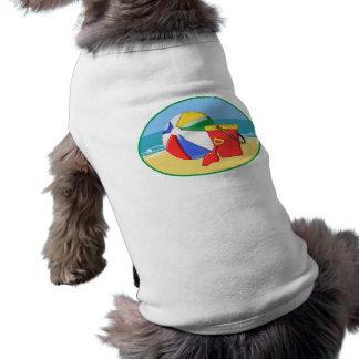 Beach Ball, Pail & Shovel at the Shore Sleeveless Dog Shirt