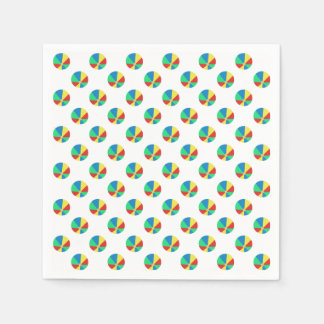 Beach Ball Pattern | Pool Party Disposable Napkins
